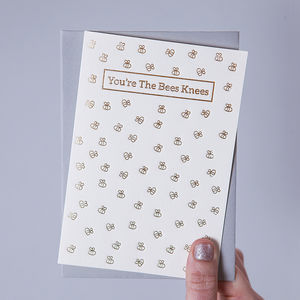 'You're The Bees Knees' Valentine's Day Card - thank you cards