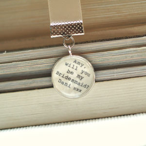 'Will You Be My Bridesmaid?' Personalised Bookmark Gift - bookmarks