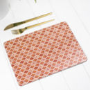 Alta Placemat, Orange Geometric Tablemat