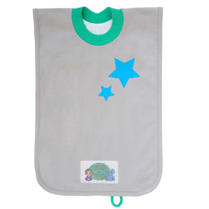 'Pocket' Toddler Bib Blue Stars