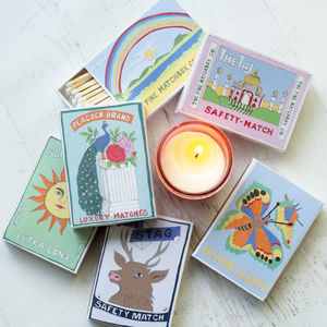 Matches In Illustrated Box - fireplace accessories