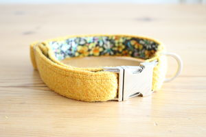 Eilidh Harris Tweed Dog Collar - cats