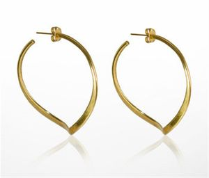 Gold Plated Twisted Hoop Earrings - earrings