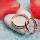 Personalised Rose Gold Wedding Ring