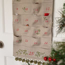 Embroidered Mistletoe Advent Calendar