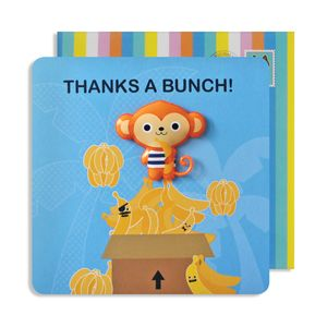 Thank You Monkey Jelly Magnet Cards