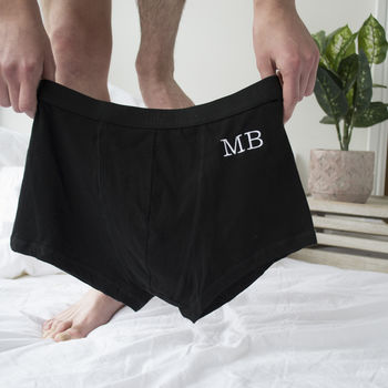 Personalised Embroidered Monogram Underwear