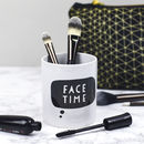 Face Time Make Up Brush Pot