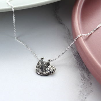 Sloth Sterling Silver Necklace