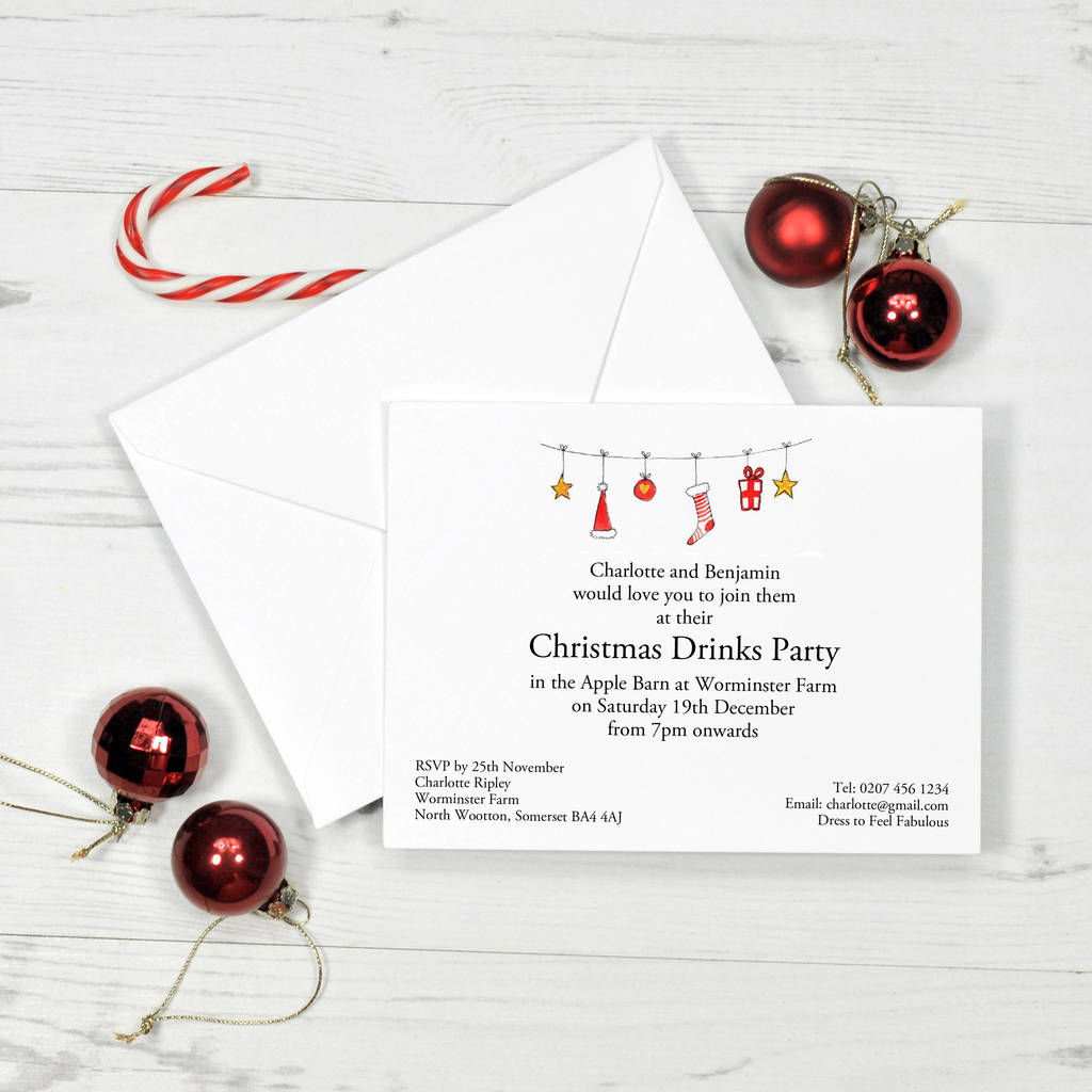 christmas and new year personalised invitation invitations