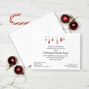 Christmas And New Year Personalised Invitation
