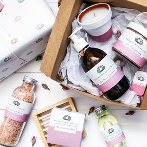 Build Your Own Wrapped Bath Gift For Her - organic skincare
