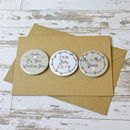 Personalised Garland Mini Magnets Wedding Card