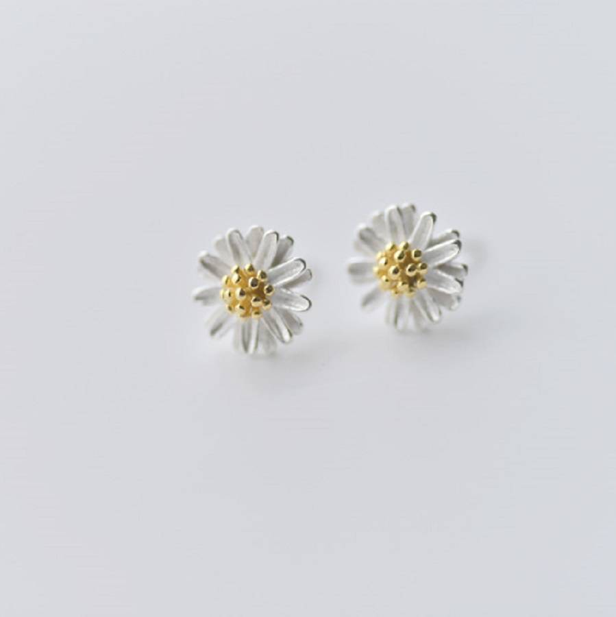 silver ear studs by attic notonthehighstreet