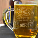 Engraved Tankard Name And Crown Design