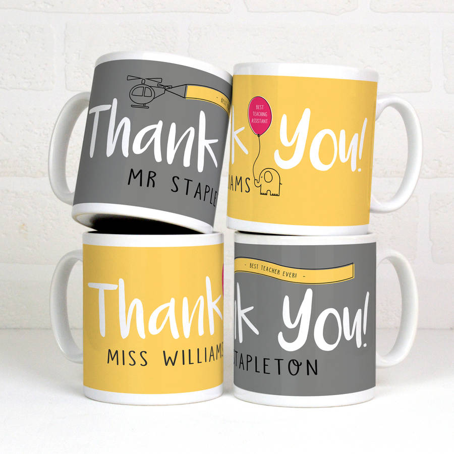 personalised mug thank you gift by meenymineymo. Black Bedroom Furniture Sets. Home Design Ideas
