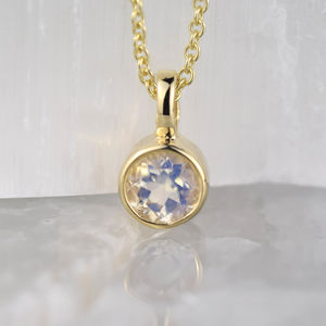 Moonstone June Birthstone Gold Pendant - new in jewellery