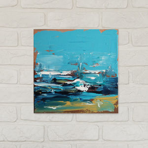 Rising Six Hand Painted Original Painting 25x25cm - modern & abstract