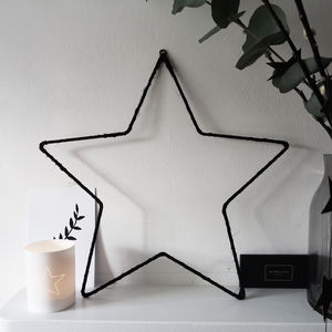 Hanging Star Decoration - christmas spirit