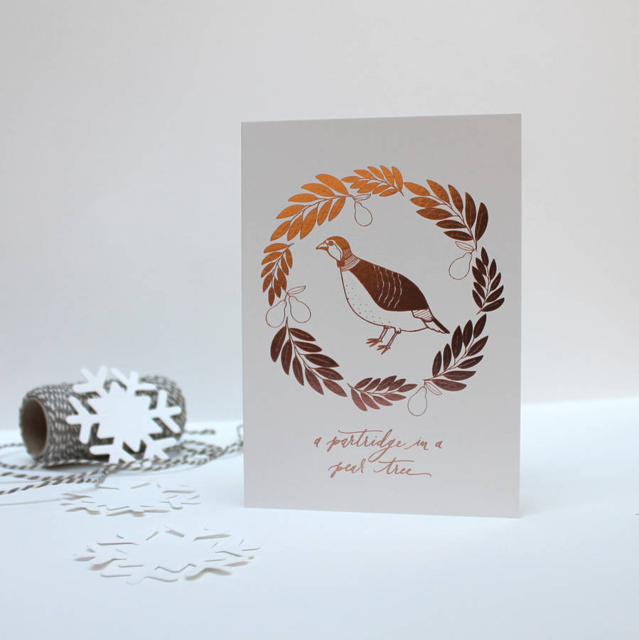 Luxury Copper Calligraphy Christmas Card Pack By Avenue