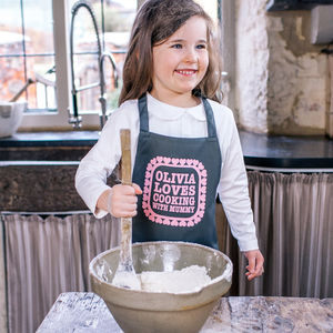 Personalised Cooking With You Kids Apron - aprons