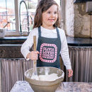 Personalised Cooking With You Kids Apron