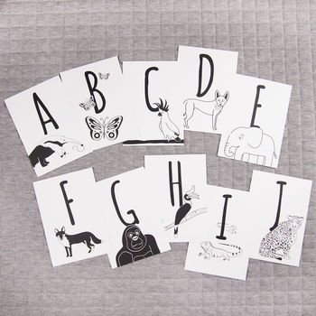 Animal Alphabet Postcards