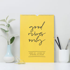 Motivated Type 2019 Wall Calendar - 2018/2019 calendars & planners