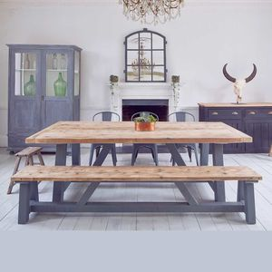 Salvaged Timber Industrial Kitchen Dining Table