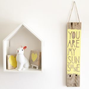 'You Are My Sunshine' Reclaimed Wood Sign