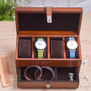 Personalised Leather Watch Box And Jewellery Storage
