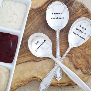 Christmas Silver Plated Condiment Spoon