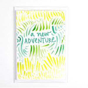 'New Adventure' Pattern Card