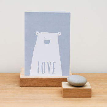 Clueless Bear Love Card