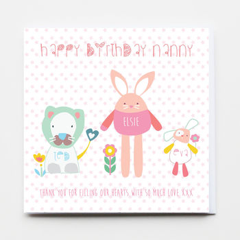 Personalised Family Birthday Greeting Card