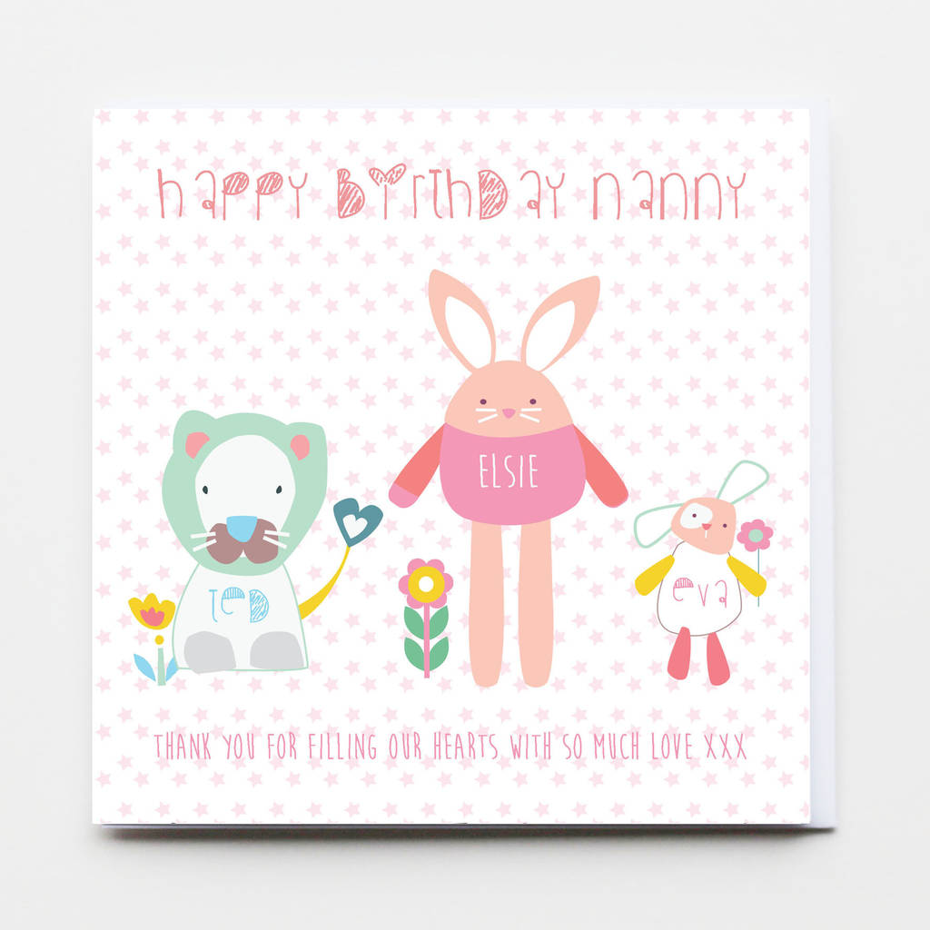 Personalised Family Birthday Greeting Card By Buttongirl Designs