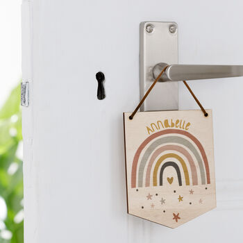 Our Little Rainbow Mini Wooden Flag Wall Hanging