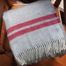 silver grey and red stripes