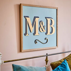 Bespoke Large Painted Wooden Initial Sign