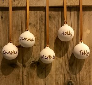 Personalised Ceramic Christmas Bauble