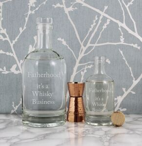 'Fatherhood, It's A Whisky Business' Etched Decanter