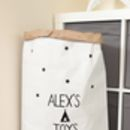 Personalised Teepee Pattern Paper Storage Bag