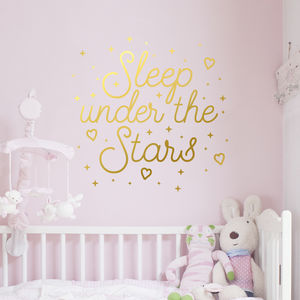 Sleep Under The Stars Quote Wall Decal Sticker