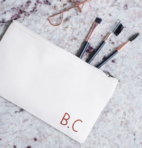 Personalised Monogram Makeup Bag