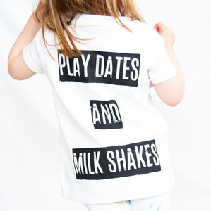 Play Dates And Milk Shakes Tee - clothing