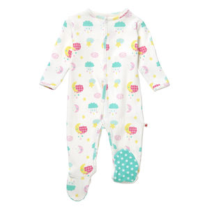 Bold Space Footed Sleepsuit
