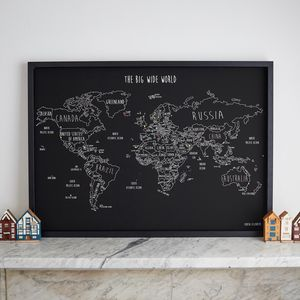 Personalised World Travel Map With Pins