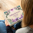 Personalised Floral Wedding Memories Keepsake Box