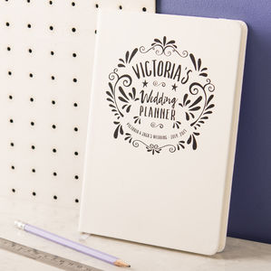 Personalised Wedding Planner Notebook - engagement gifts