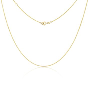 9ct Gold Adjustable Curb Chain